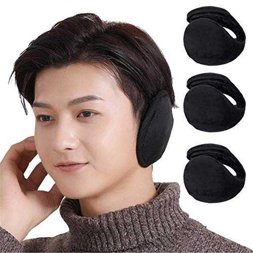 TOOFLEE Ear Muffs for Men & Women – Twisted & Foldable Ear Covers – Best for Winter Outdoor Hiking Cycling Skiing – Behind the Head Earmuffs – Soft Plush Ear Warmers