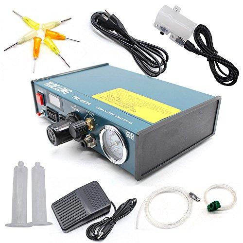 Digital Display Auto Glue Dispenser Solder Paste Liquid Dropper Controller 983A Automatischer Lotpasten