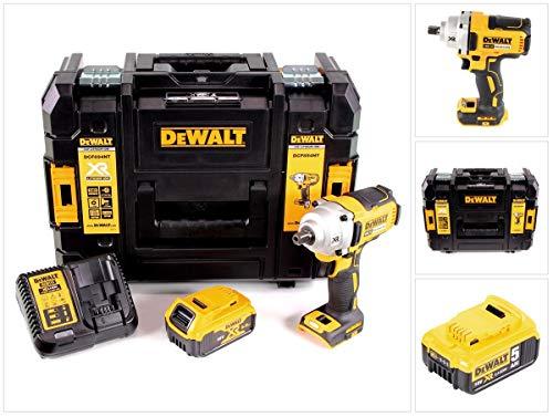 """DeWalt DCF 894 P1 - Atornillador de impacto inalámbrico (18 V, 1/2"""", sin escobillas, 1 batería de 5,0 Ah, cargador y TSTAK)"""