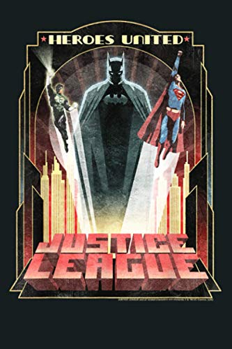 DC Comics Justice League Heroes United City Poster: Notebook Planner - 6x9 inch Daily Planner Journal, To Do List Notebook, Daily Organizer, 114 Pages