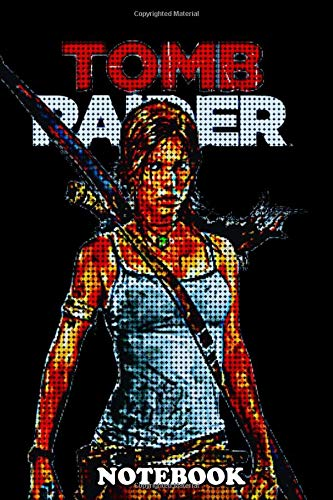 """Price comparison product image Notebook: Tomb Raider Pixel ,  Journal for Writing,  College Ruled Size 6"""" x 9"""",  110 Pages"""