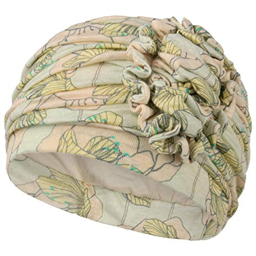 Christine Headwear Turban oncologique Lotus en Bambou ou en Lin Printemps-été Collection 2020 (Lin imprimé Floral)