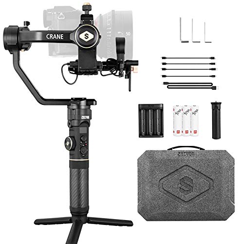 Zhiyun Crane 2S 3-Axis Gimbal Stabilizer for Mirrorless & DSLR Camera Compatible with Sony Nikon BMPCC 6K Panasonic S1H Canon EOS 1DX Mark II ,Vertical Shooting ,12-hrs runtime
