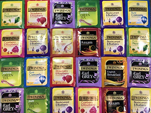 Twinings Tea Refill Box 10 Assorted Flavours, 50 Individually Wrapped Enveloped Tea Bags Black teas, Green teas and Fruit & Herbal teas.