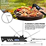 T98 Digital Meat Thermometer, Cooking Food Thermometers with IP67 Waterproof and Foldable Stainless Steel Probe Large…