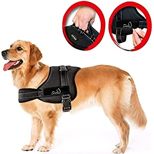 Customer reviews Lifepul(TM) No Pull Dog Vest Harness - Dog Body Padded Vest - Comfort Control for Large Dogs in Training Walking - No More Pulling, Tugging or Choking (L):Canliiddaa