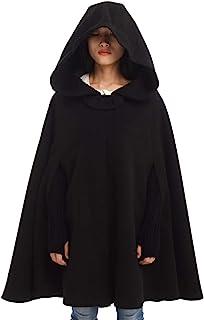 معطف حريمي من GRACEART بغطاء رأس من الصوف والزفاف والشتاء مقاس كبير