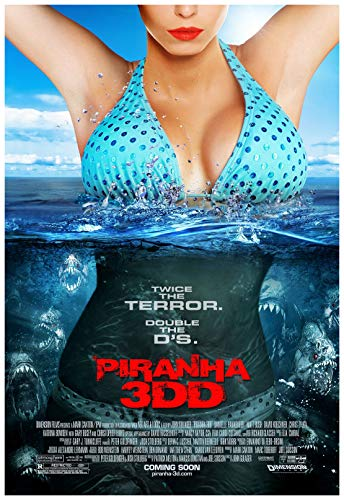 Piranha 3DD Movie Poster 24 x 36 Inches Full Sized Print Unframed Ready for Display