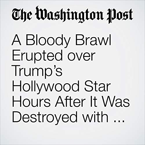 A Bloody Brawl Erupted over Trump's Hollywood Star Hours After It Was Destroyed with a Pickax copertina