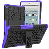ROISKIN F1re Tablet 8 Inch Case (7th 8th Generation, 2017 2018 Release), Kickstand Anti-Slip Shockproof Impact Resistance Dual Layer Heavy Duty Protective Case Cover