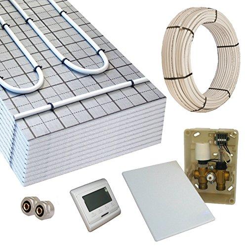 Warmwasser Fußbodenheizung TAC 5m² Paket E-Regelbox Digital