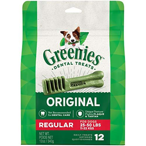 Greenies - Friandises gâteries dentaires pour Chien Standard Sachet de 12 340 g