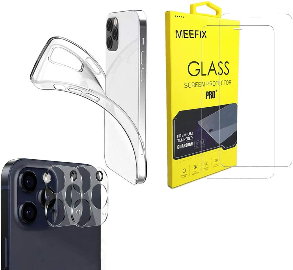 for iPhone 12 Pro Case Ultra-Cheap Deals Screen TPU Year-end annual account Set Shock- Slim - Protector