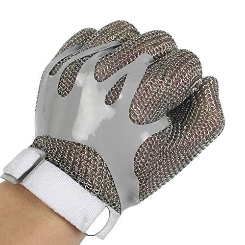 Schnittfeste Handschuhe Cut-resistente Handschuhe 304L Gebürstet Edelstahl Mesh Cut Resistant Kette Posthandschuhe Küchen Metzger Arbeitsschutzhandschuh (Size : X-Small)