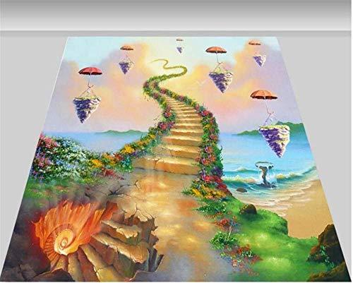Fantasy Mode HD PVC 3D Wallpaper Bella Treppen 3D Malerei Indoor Floor Wallpaper 300x210cm