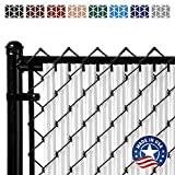 Ridged Slats Slat Depot Single Wall Bottom Locking Privacy Slat for 3', 4', 5', 6', 7' and 8' Chain Link Fence (4ft, White)