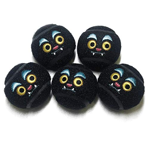 Dog Squeaky Balls Cute Tennis Balls for Dogs 5 Packs Ideal Fetch Launcher Balls Chewing Toys for Small Dog Medium Dog and Large Dog