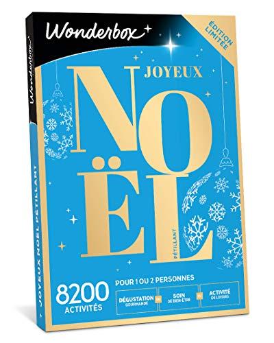 Wonderbox - Coffret cadeau noël - JOYEUX NOEL Pétillant – 7800 activités bien-être ou gourmandes