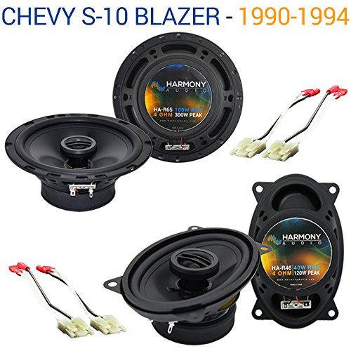 Compatible with Chevy S-10 Blazer 1990-1994 OEM Speaker Upgrade Harmony R46 R65 Package New