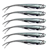 QualyQualy Soft Swimbait Fishing Lures Jerk Shad Minnow Drop Shot Lure Bass Bait Shad Bait Shad Lure Soft Jerkbait for Bass Trout Pike Walleye Crappie 2.95in 6Pcs Color 4