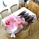 XXDD Mantel de Flores de Colores 3D Mantel de Boda Rectangular Lavable a Prueba de Polvo Cubierta de Mesa para el hogar A3 140x200cm