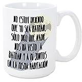 MUGFFINS Tazas Desayuno Originales - No Estoy Diciendo Que yo Sea Batman - 350 ml - Tazas graciosas con Frases de Humor sarcástico - Mensaje Divertid