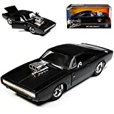 Dodge Charger R/T Dom´s Muscle Cars Coupe Matt Schwarz Fast and Furious 7 1970 1/24 Jada Modell Auto
