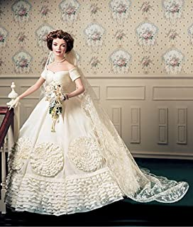 Jacqueline Kennedy Porcelain Heirloom Bride Doll by the jackie doll