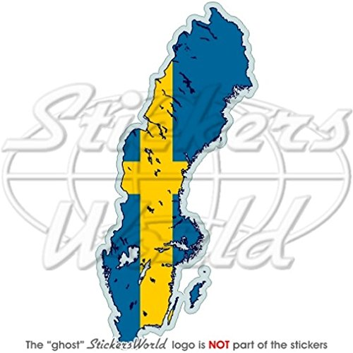 ZWEDEN Zweedse Kaart-vlag SVERIGE 5.5