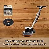 Pack Nettoyage Parquet Huilé avec Monobrosse Floorboy