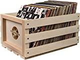 "Holds between 40 - 75 Albums Finished in solid wood Fire-branded with the iconic Crosley logo Dimensions: 13. 75"" (W) x 12. 25"" (H) x 18"" (D)"