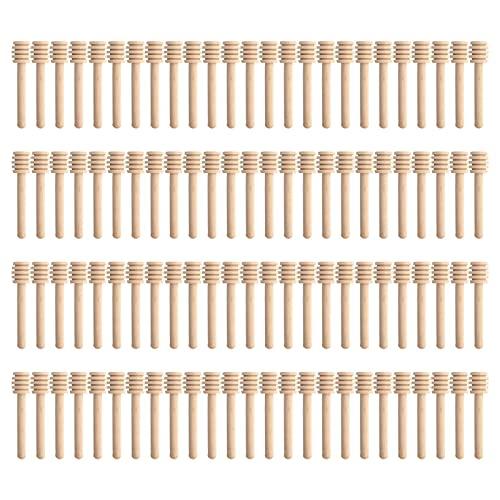 100 stuks honinglepels van hout, 8 cm, mini-pollepel, honingkonijntje, voor geschenken, feest, bruiloft, baby, douche…