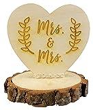 Rustic Wood Mrs. & Mrs. Gay Lesbian Wedding Cake Topper