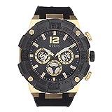 Guess orologi navigator Mens analogico orologio al quarzo con cinturino in silicone GW0264G3