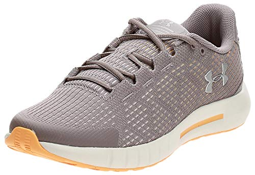 Under Armour womens Micro G Pursuit SE Running Shoe, Tetra Gray (601)/Summit White, 9.5