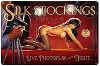 シルエットシルエットタイルヴィンテージヴィンテージヴィンテージポスター少女少女標識標識