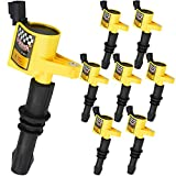 Bravex High Performance Professional Straight Boot Ignition Coils 8 Pack For Ford F150 Mercury Lincoln V8 V10...