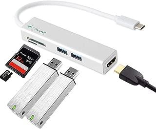 TSdrena USB 3.1 Type C ハブ [ USB3.0×2 / HDMI 4K 変換 ポート/SD / microSD カードリーダー ] Surface Go/MacBook / MacBook Pro/Windows 対応 SPM-TC-HRH-2