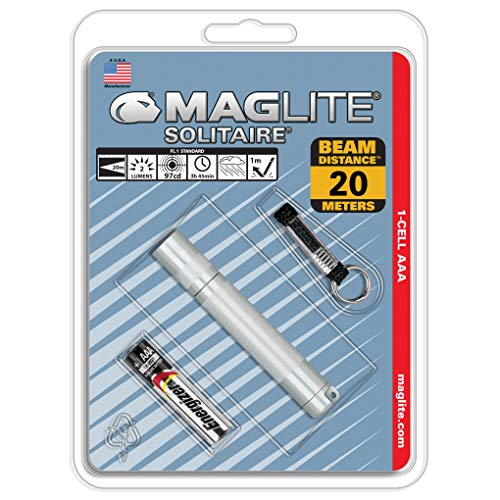 Maglite Solitaire - Linterna incandescente, en blíster, Color Plata