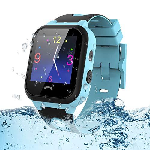 Kinder Smartwatch wasserdichte, Vannico Touchscreen Smart Watch Phone für Kinder Smart Watch Uhr für Jungen und Mädchen mit SOS (S18-Blau)