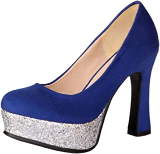 Zanpa Women Fashion Pumps Block High Heels Platform