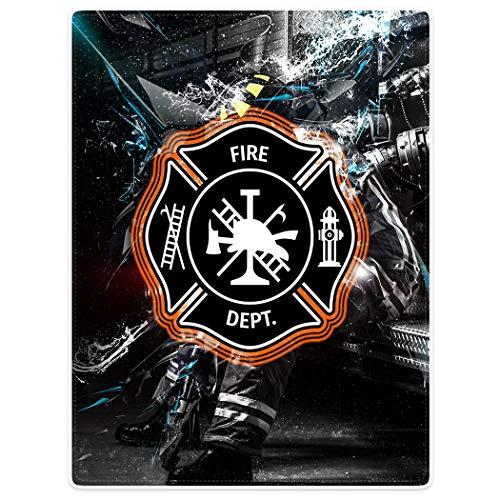 SXCHEN Blankets Plush Sofa Bed Throw Blanket Firefighter Fire Sign Firemen 60'x80'