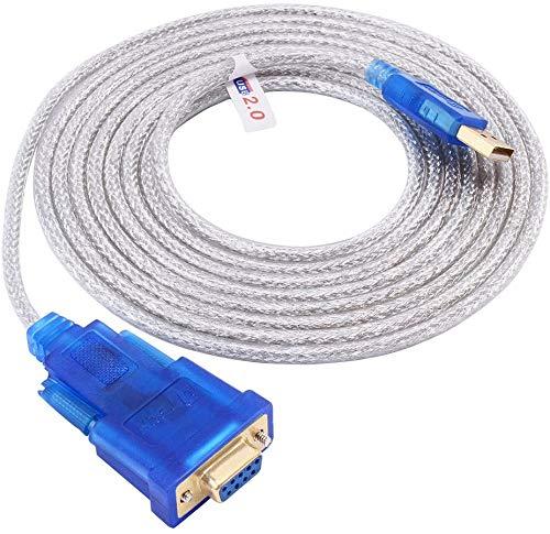 DTECH 3 Meter serielle Kabel RS232 auf USB 9-polige Buchse Konverter unterstützt Windows 10 8 7 Mac