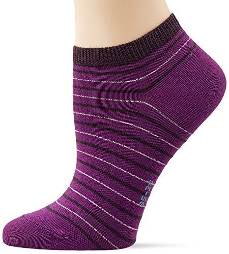FALKE Damen Stripe Shimmer W SN Socken, Lila (Ultraviolet 8295), 35-38 (UK 2.5-5 Ι US 5-7.5)
