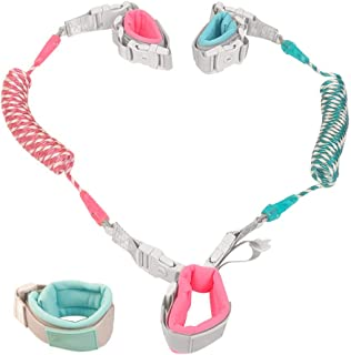 Baby Anti Lost Wrist Link Child Safety Harnesses & Leashes- Strap Rope Wristbands Hand Belt- Toddlers Harness Walking Leash with Key Lock for 2 Kids