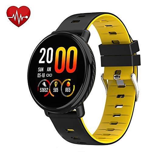 Lx-Top Bluetooth Smart Horloge Mannen IP68 Waterdichte Sport Smartwatch Hartslag Bloeddruk Monitor Touch Screen Verbeterde Fitness Tracker Hardlopen Zwemmen Berichten Herinnering