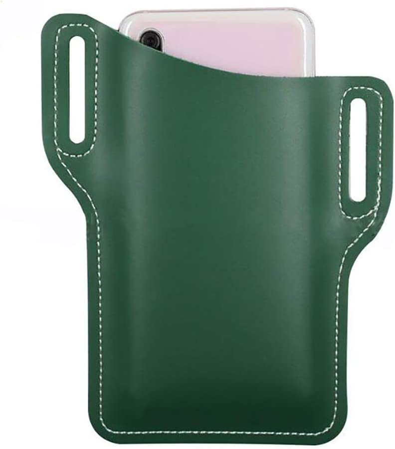 Firecolor Cell Phone Holster Case Men PU Leather Belt Clip Pouch,Green
