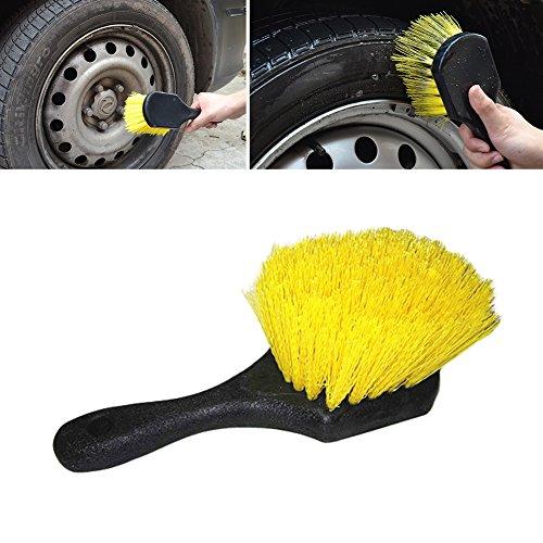 Quanjucheer Brosse de nettoyage à poils souples anti-rayures pour roues et pneus de voiture camion moto 22.5cm x 7cm Couleur 1#