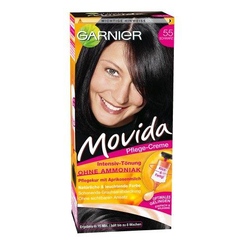Garnier Movida Haarfarbe Intensiv-Tönung, 55 Schwarz