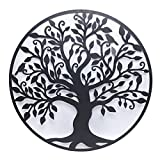 40 Inch Tree of Life Metal Wall Art, Hanging Garden Sculptures Contemporary Iron Artwork Heavy Duty Design Festive Holiday Office Home Bedroom Living Room Decor